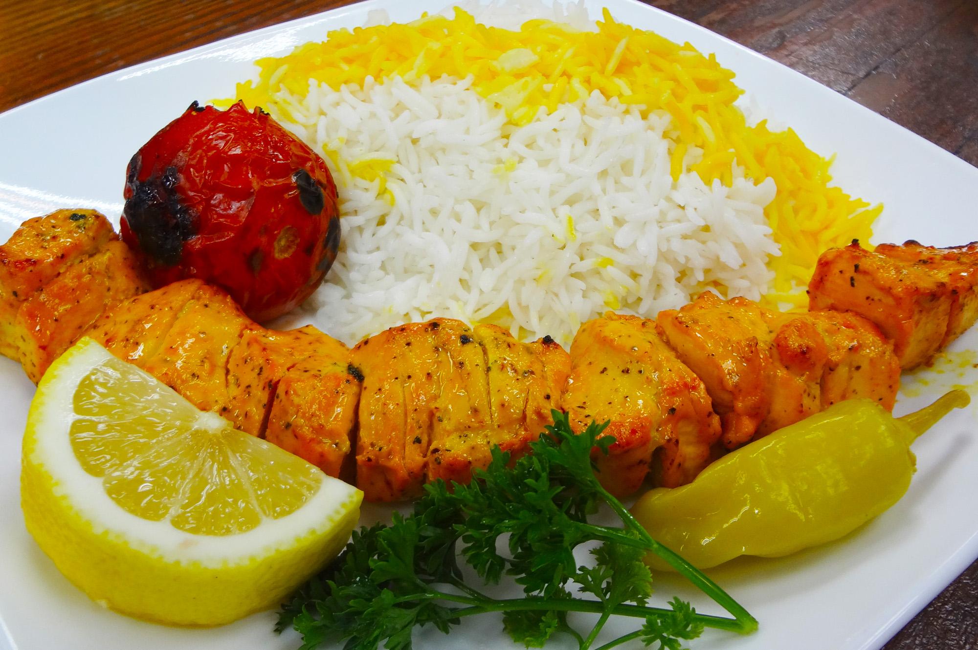 Jujeh Kebab ~ chicken skewer at Sahel Persian Restaurant